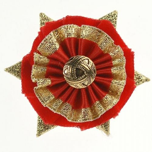 ShowQuest Boston Buttonhole in Red/Red/Gold